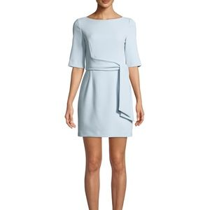 Alice + Olivia Virgil Tie-Front Boat Neck Dress